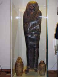 Расписной картонажный футляр для мумии египтянина Гори