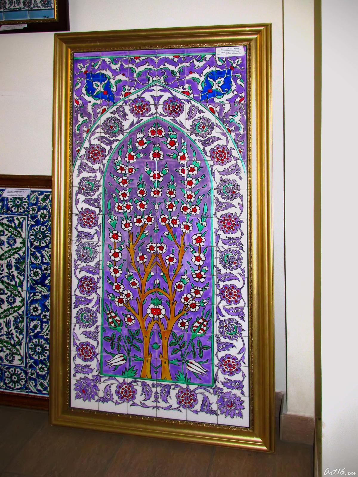 Фото №53637. ''Персия'', орнамент. Роспись на керамической плитке