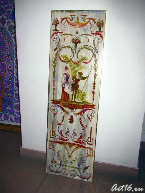 Роспись на керамической плитке Ф.Даминовой:: Флера Даминова