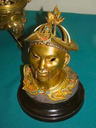 Чернильница в виде головы китайца