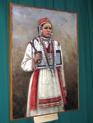 А.И.Пиотровский. Портрет чувашской девушки