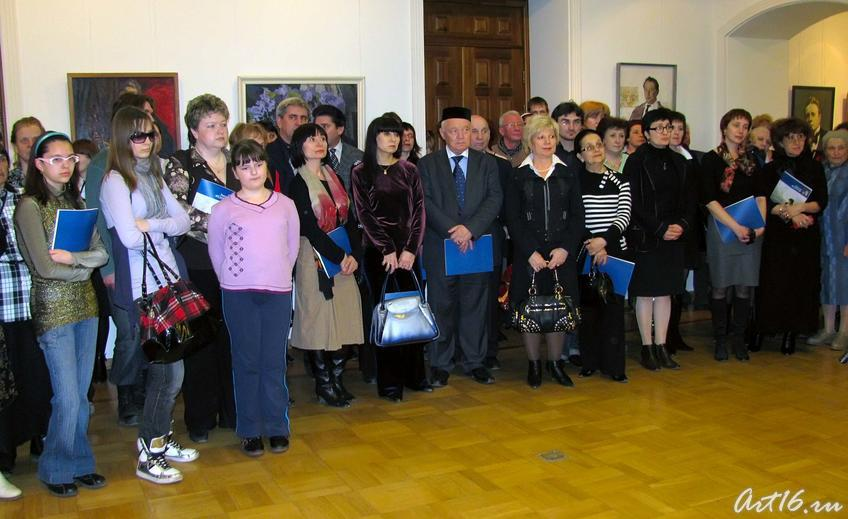 На открытии выставки Федорова В.К. (1940-2001)::Виктор Кронидович Федоров. 1940-2001