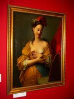 Молодая женщина перед зеркалом