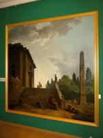 Пейзаж с большой лестницей и обелиском