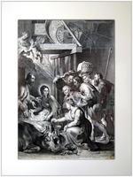 Поклонение пастухов. 1620. С картины Питера Пауля Рубенса