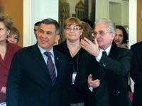 М.Б.Пиотровский представил Р.Н.Минниханову выставку