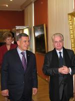 Р.Н.Минниханов, Президент РТ, М.Б.Пиотровский, директор Государственного Эрмитажа