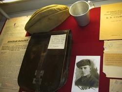 Пполевая сумка писателя-фронтовика Г. Паушкина. 1941-1945 /его фото