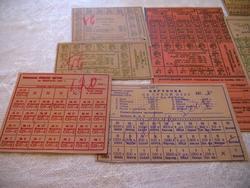 Карточки на сухой паек, 1945