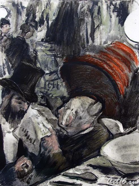 Эдгар Дега. Иллюстрации к роману Людовика Галеви ʺСемья Кардинальʺ _03::В пространстве полусвета. Эдгар Дега
