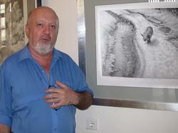 Борис Вайнер на выставке Г. Доленджашвили