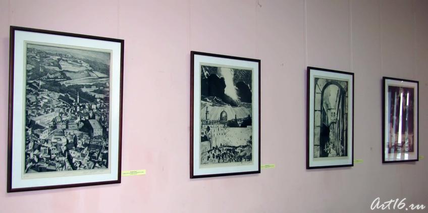 Графические листы из серии ʺСтарый Иерусалимʺ::Искусство Израиля Татарстану
