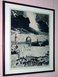 Графический лист из серии ''Старый Иерусалим'' (1)