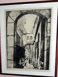 Графический лист из серии ''Старый Иерусалим'' (2)