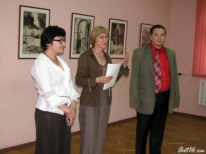 Фото №58210. Р.Нургалеева, О. Улемнова и представитель еврейской общины