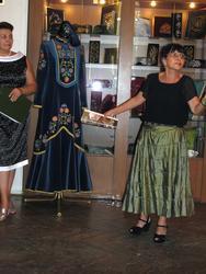 Розалина Гумеровна Шагеева на открытии выставки