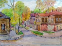 Казань, ул. Волкова, 2001. Евгения Шапиро; акварель