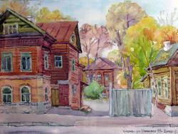 Казань, ул.Ульяновых, 1999. Евгения Шапиро; акварель