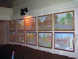 Картины с видами старой Казани (фрагмент экспозиции). Евгения Шапиро; масло