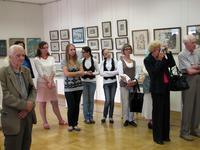 На открытии юбилейной выставки И.Колмогорцевой И Г. Зяблицева