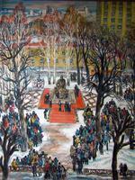 Открытие памятника Б.И.Урманче. 1997. Из серии