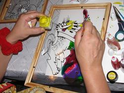 Роспись витражными красками по стеклу