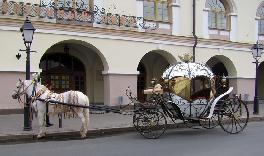 Фото №59797. Прогулочная карета у здания Национального музея РТ