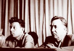 Писатели: Гариф Ахунов и Габдрахман Абсалямов
