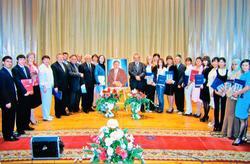 Лауреаты премии Г. Ахунова  с известными писателями