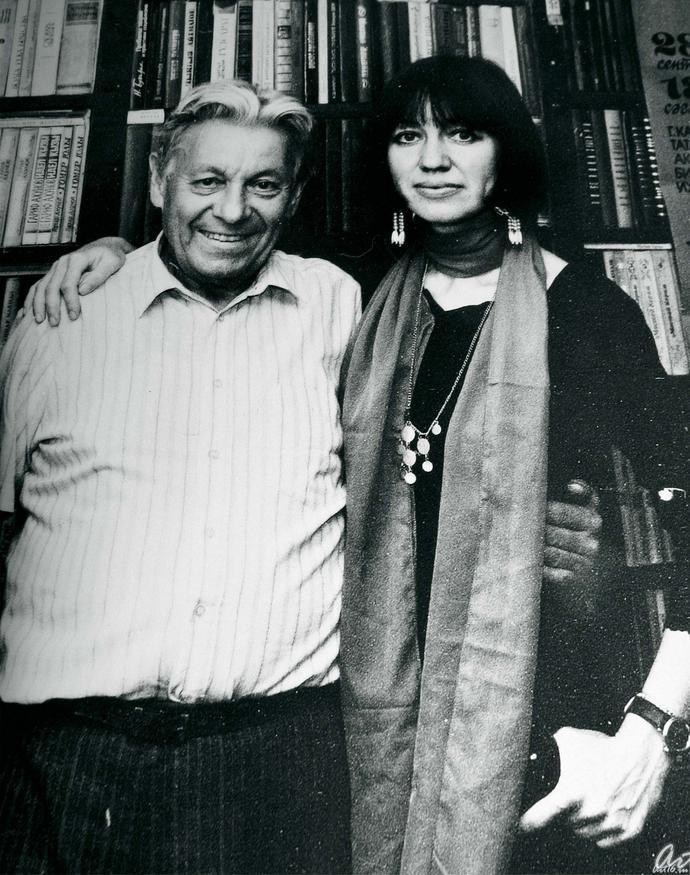Гариф Ахунов с дочерью Наилей::Гариф Ахунов (1925-2000)