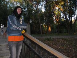 Наиля Ахунова в парке