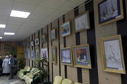 Фрагмент экспозиции выставки детского творчества