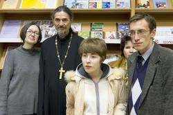 Наиля Ахунова, иерей Олег Востриков,  Аникина Александра, Коротин Александр