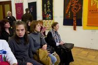 Гости выставки ''Матерчатая каллиграфия''