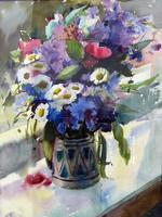 Луговые цветы. 1975. Никитина Г.А