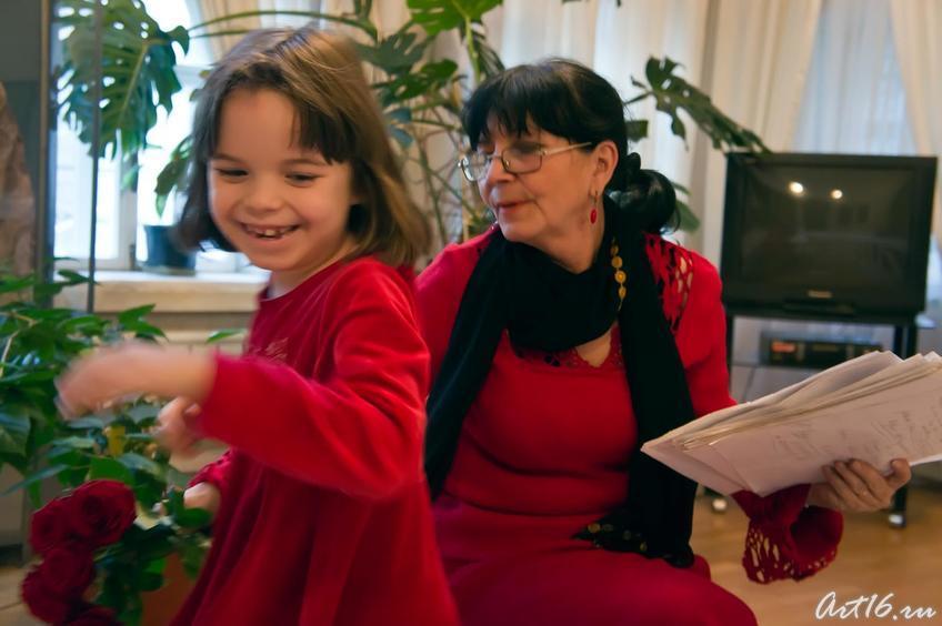 Розалина Шагеева с внучкой