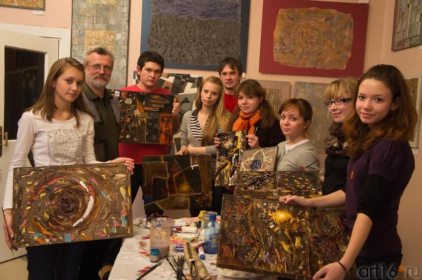 Мастер-класс по абстрактной живописи А.Н.Лопаткина::Мастер–класс по абстрактной живописи