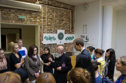 Встреча В.Попова со студентами КПФУ на открытии выставки