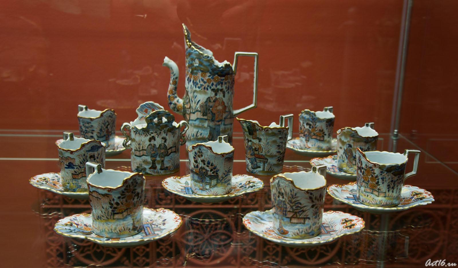 Чайный сервиз в японском стиле, Эмиль Галле (1864-1904) Сен Клемен::Фаянс Галле и школа Нанси