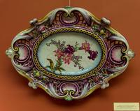 Декоративное блюдо с цветущими лилиями, 1889. Эмиль Галле