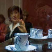 Чашки с блюдцами, 1870-е. Эмиль Галле (1846-1904) Сен Клемен