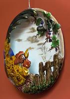 Декоративная тарелак с изображением петуха, 1870. Огюст Мажорель (1825-1879)
