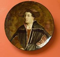 Блюдо с портретом молодого человека, 1877-1884. Эмиль Галле (1846-1904) Нанси