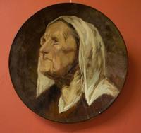 Блюдо с изображением старушки в чепчике XVII века, 1877-1884. Эмиль Галле (1846-1904)  Нанси