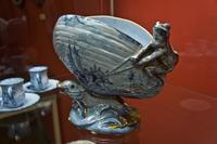 Ваза в форме раковины с лягушкой и рыбами, 1870-е. Эмиль Галле (1846-1904) Сен Клеман