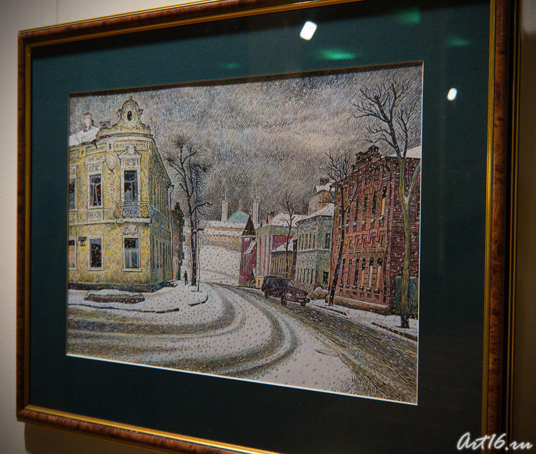 А снег идет. 2005. Ильин В.И. Казань::Республиканская выставка графики — 2010