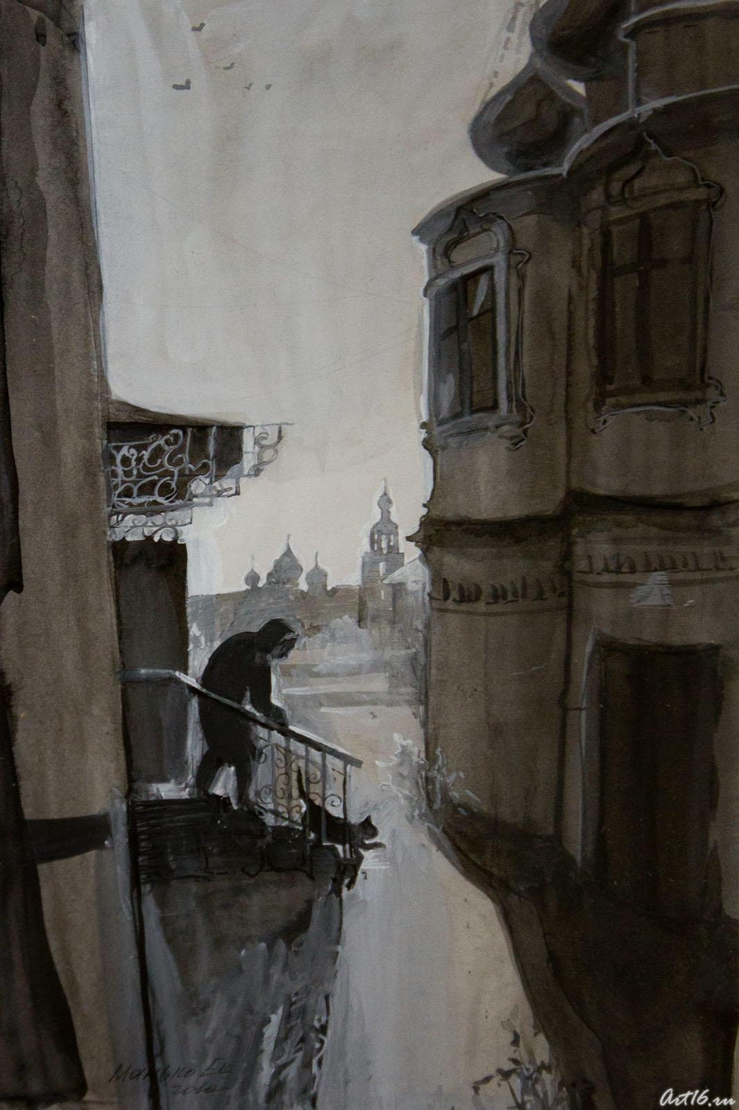 Дворик монастыря. Манько.Е.::Республиканская выставка графики — 2010