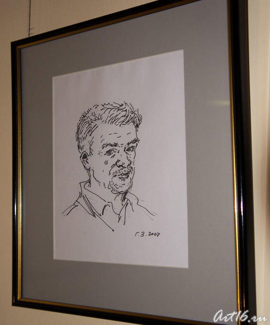 Автопортрет. 2007. Гимаев З.Ф. Казань::Республиканская выставка графики — 2010