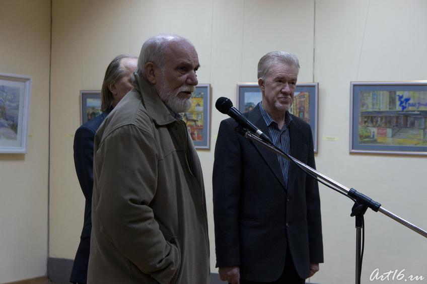 Фото №67211. В. Аршинов, З.Гимаев. Открытие выставки «Новая графика 2010»