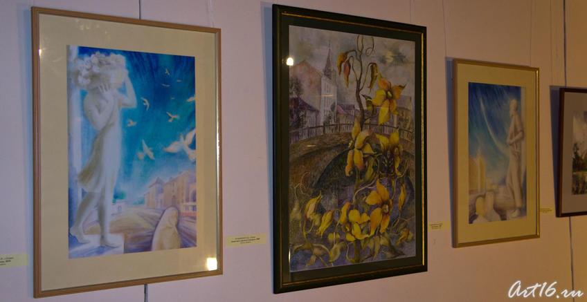 Фрагмент экспозиции  «Новая графика 2010»::Республиканская выставка графики — 2010